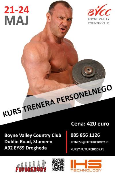 Kurs Trenera Personalnego Dublin maj 21-24